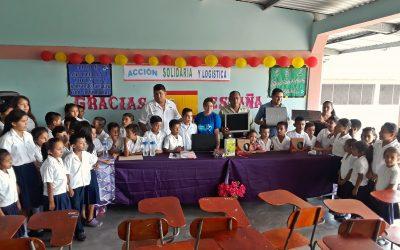 Cuatro escuelas de Honduras se benefician del material informático enviado por Acció Solidària i Logística