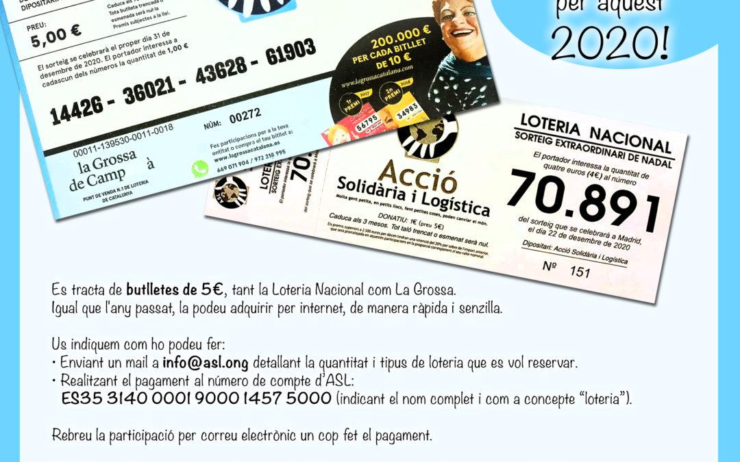 Ja està disponible la loteria de Nadal 2020, pots fer la teva comanda també per internet