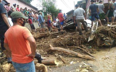 Les conseqüències del pas de la tempesta ETA per Hondures