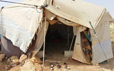 Financem tancs d'aigua potable i tendes per als refugiats a Kafr Lusin (Síria)