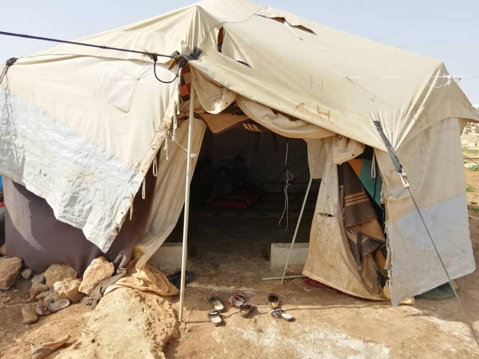 Financem tenda de campanya Kafr Lusin